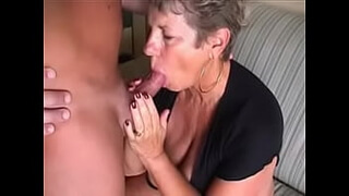 Big titty granny loves to eat cum.