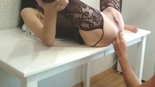 First, I got my Anal Dildo Stretched, and then Fucked with a Big Dick and Cum in Anal