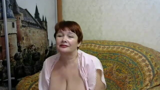 Russian mature with excellent body on the webcam
