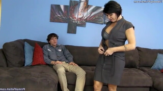 Happy stepmom gets young hard cock for dessert