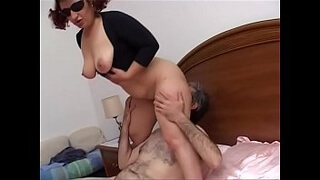 Mature horny gets her partner's cock hard