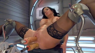 Milf keeps squirting from machine fuck