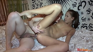 18videoz - Romantic crap Mancy gets the guy his first anal