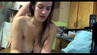 Super Horny Wife Getting A Hot Kitchen Table Fuck
