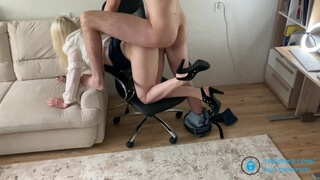 Working from Home is too Difficult for this Horny MILF
