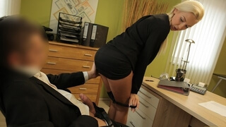 LOAN4K Needing a Loan makes the Businesswoman Hook up with a Man