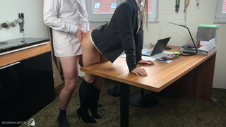 lunch break sex for naughty business woman - projectsexdiary