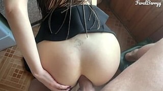 My stepsister's big natural tits are driving me crazy. I put my cock in her milky ass. FeralBerryy