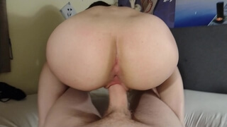 Shy Teen Gets her Shaven Pussy Wrecked and Filled with Cum