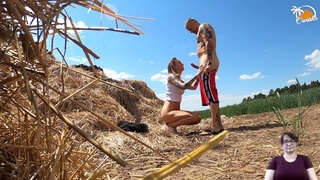 Sign Language Porn from Owiaks Couple - Amateur Outdoor Sex with Description for Deaf People