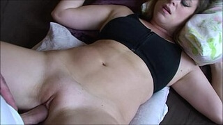 Stepbrother cums in my bedroom - Erin Electra