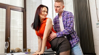 TUTOR4K. Guy has hot sex with slim mature tutor who wanted