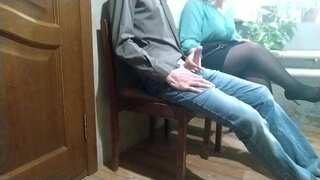 Stranger Woman in the Waiting Room Handjob to me
