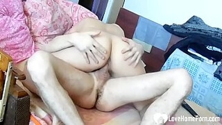 Big booty babe gives her brother some help