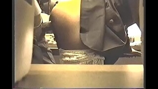 Secretary fucked doggy style in the office by boss with bbc and gets cum in pussy on hidden cam
