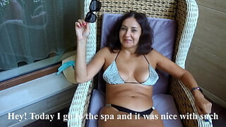 Met a sexy bitch milf at the resort and fucked in my shower (Alina Tumanova)