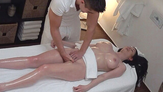 Unexpected Breast and Pussy Massage