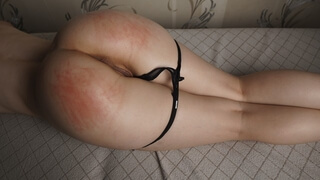 Hot Juicy Ass Spanking for Slim Beauty