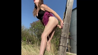 Horny Farm Girl can't Wait for Cock