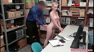 Teen thief begging to get fucked in exchange for freedom