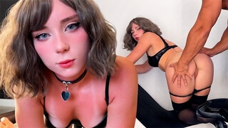 Fucked Slutty Stripper in different Poses and Cum on Face