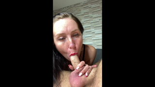 SUCKING HUSBAND'S COCK WHILE HE FINGERS ME