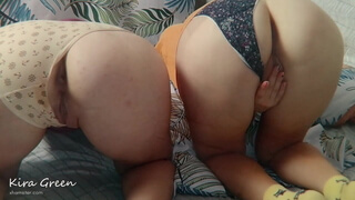 POV THREESOME SEX IN UNDERPANTS - STEP SISTERS GREEN (SHORT)