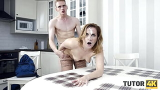 TUTOR4K. Guy on sexy tutor by drilling her cunny in nice poses