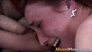 Redhead Party Girl Anal Fucked By Two Men