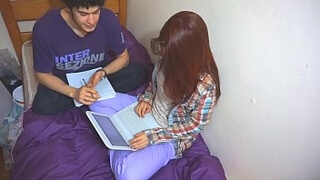 I fucked my college mate while studying