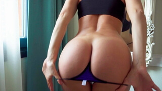 Anal stretching in the hotel room