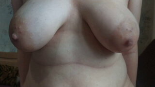 Milf with big boobs rides my cock until she gets a huge pussy creampie