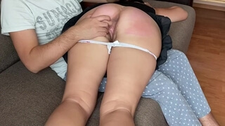 SUBMISSIVE Wife, first I SPANK her in the Ass, then I Give a Member to Suck. EXTREME Deepthroat