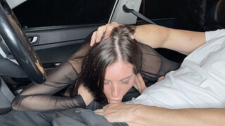 Best Blowjob from a Juicy MILF on the way Home