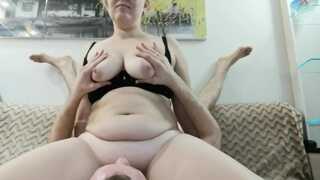Chubby Stepmom Fucked after Creampie Doggystyle