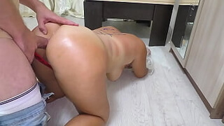 The son finished his mom in the ass. Cum in anal