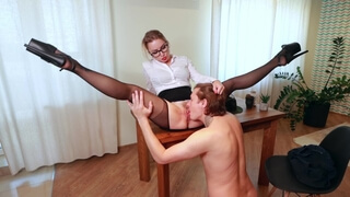 // Hot Blonde Agent Fucks Russian Guy on the Casting Couch // [4k]