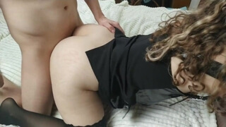 Morning Sex with Big Ass Step Sister in Stockings