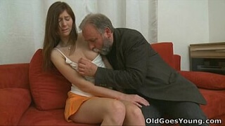 Old Goes Young - Your girlfriend left alone with an old guy
