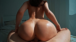 It's a Sunny Sunday Morning so I made him Cum twice - Reverse Cowgirl, Doggystyle, Missionary POV