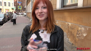 Red-haired nymph nailed by devious agent in amazing poses
