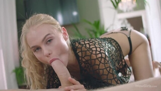 WOWGIRLS Amazing blonde Nancy A coming up with new tricks to please her lover in bed