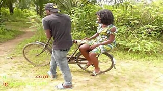 The Only Guy Man Who Own Bicycle In The Village Fucked All The Village Girls And People Wives In The Bush