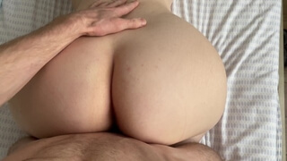 Big Ass Blonde Bouncing on My Cock