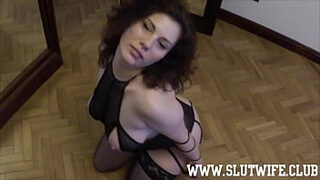 FFM Threesome: One slut gave me a slow blowjob and I gave the other one a quick sloppy facefuck