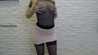 Girl teases with her curves