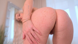 Hot blonde gets anal and facial