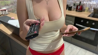 Fucked a busty student and cum on her hairy pussy (FeralBerryy)